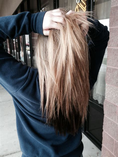 hair with color underneath hair with brown underneath