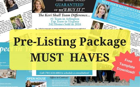 Marketing Package Template by Real Estate Templates Brochures Flyers Newsletters