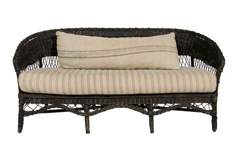 wicker settee furniture 1920s european wicker sofa omero home