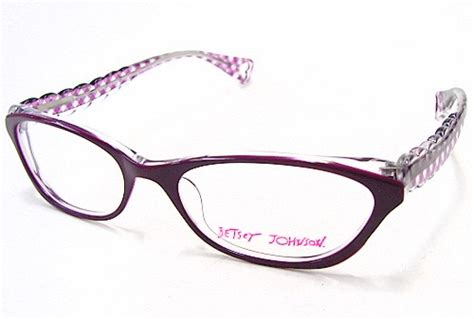 betsey johnson gingham bj067 eyeglasses bj 067 violet