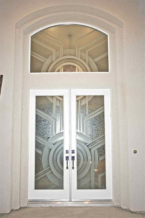 Glass Inserts For Doors by Frosted Glass Doors Create Obscurity Thru
