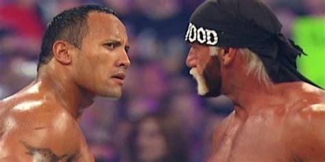 dwayne the rock johnson vs hulk hogan the rock remembers wrestlemania match with hulk hogan