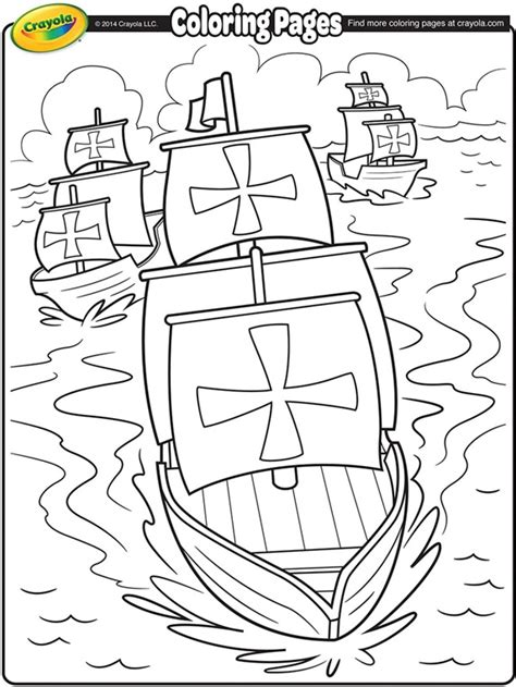 coloring pages of the nina pinta and santa maria nina pinta and santa maria coloring sheet columbus