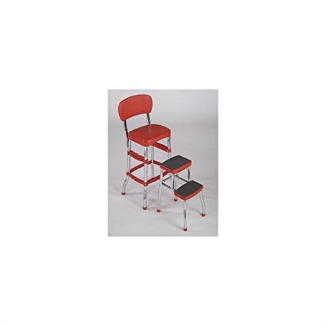 Cosco Black Retro Counter Chair Step Stool by Brand New Cosco Retro Counter Chair Step Stool