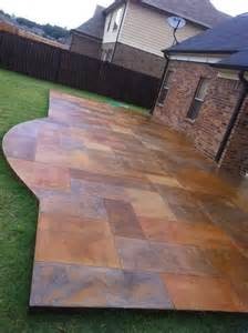 stain concrete patio stained concrete patio by butterflyj concrete patio