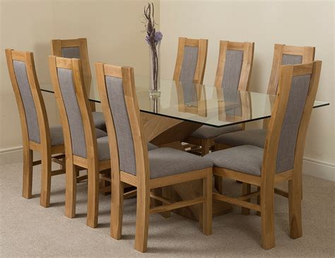 valencia oak large glass dining table     stanford