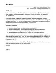 Cover Letter Sles For Receptionist Administrative Assistant by Best Administrative Assistant Cover Letter Exles