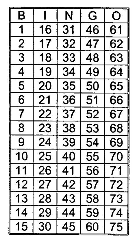 bingo caller card template best photos of printable bingo call numbers printable