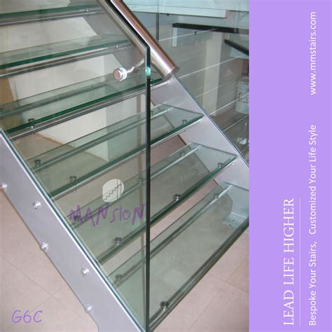 glass banister cost indoor side mounted glass stair railing cost view glass
