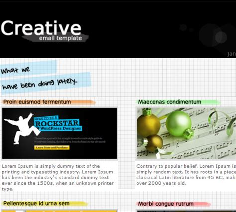 50 Email Templates To Enhance Your Newsletter S Appeal Naldz Graphics Creative Email Templates