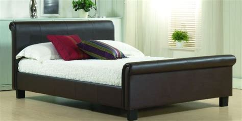 brown leather bed bedroom ideas 50 sleigh bed inspirations for a cozy modern bedroom