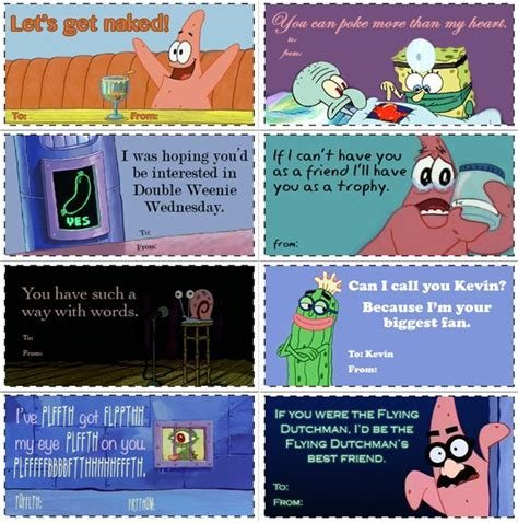 spongebob valentines day cards spongebob valentines cards