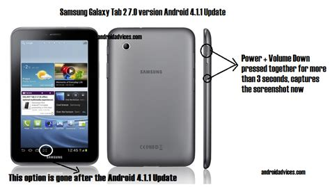 how to screenshot on android tablet how to capture screenshot in samsung galaxy tab 2 7 0 version after jelly bean 4 1 1 update