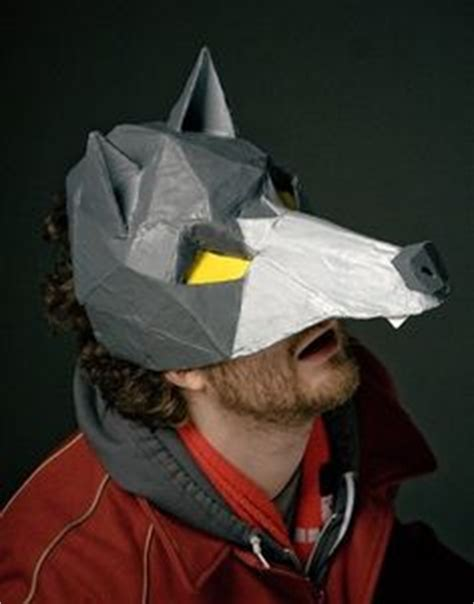 Papercraft Wolf Mask - 1000 images about cardboard on cardboard