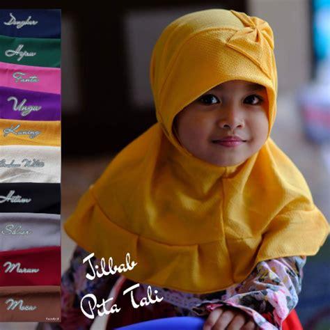 jual jilbab anak pita tali cantik jilbab instan