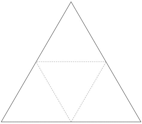 tetrahedron template tetrahedron net template