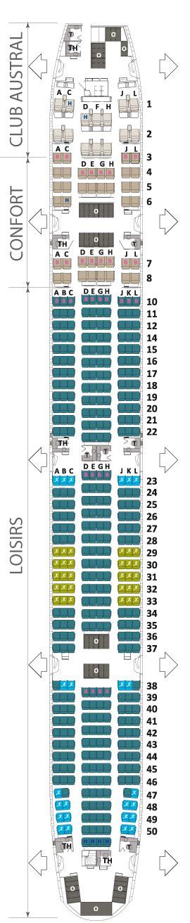 boeing 777 300er sieges boeing 777 300 er air austral plan cabine visite en