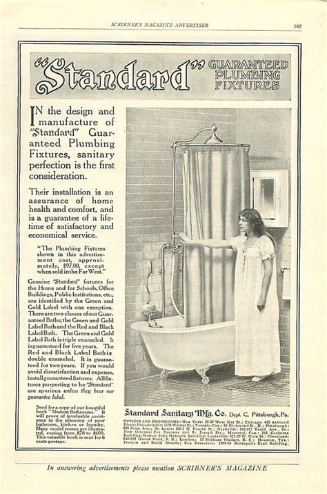 mott s plumbing fixtures catalogue a classic reprint books 1911 standard plumbing fixtures shower ad early