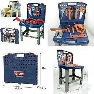 Mainan Anak Laki Laki Murah Tools Box Koper Petukangan Anak Tool Set mainan tukang tukangan toko bunda