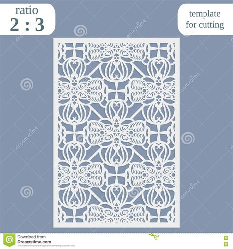 paper cards cut template laser cut wedding card template paper openwork greeting