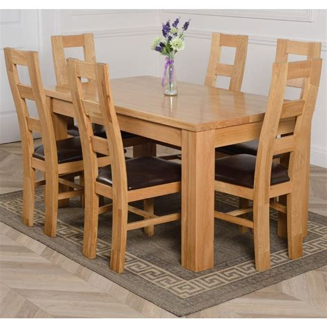 dakota medium oak dining table   yale oak chairs