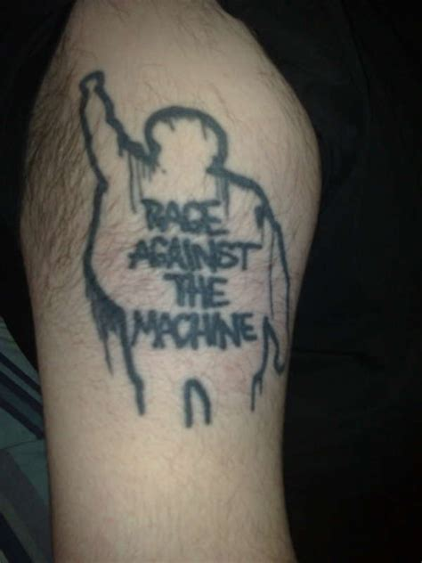 rage against the machine tattoo rage against the machine battle of la inspired