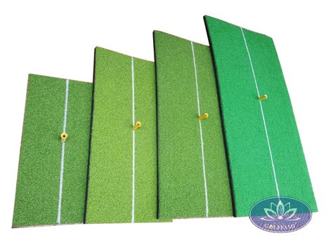 golf swing mat bộ thảm golf swing mat line trắng cao cấp golffami