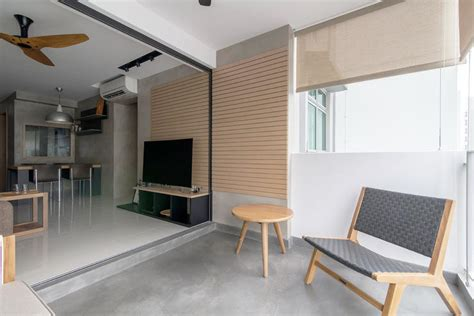 inspiring hdb flat homes  concrete screed finishes