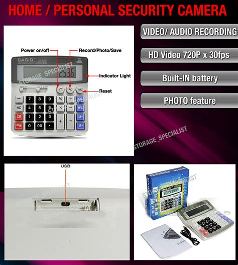 calculator personal home security system hd