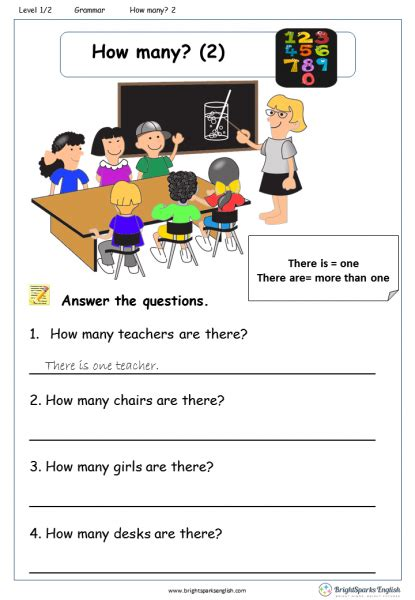 how many members are there to be in the house how many 2 worksheet english treasure trove