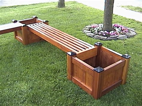 bench with planter planter benches for sale 187 plansdownload