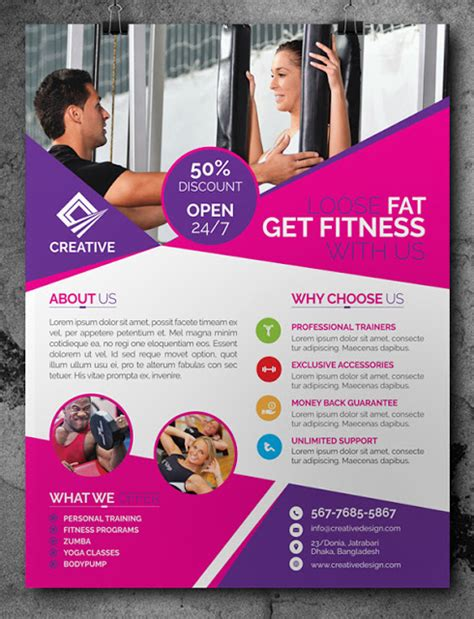 ad template psd free fitness flyer template psd freebies psd