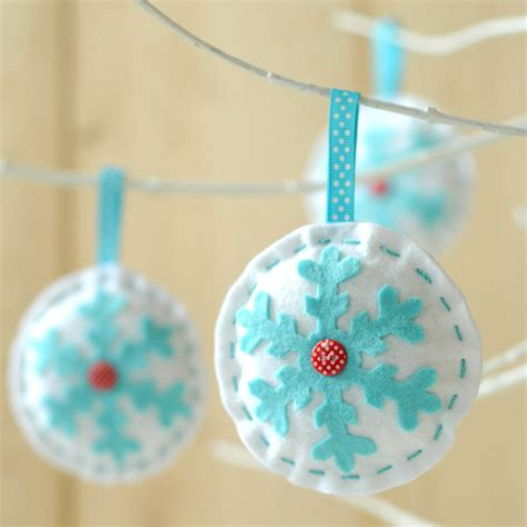 make sew christmas bauble decorations kit by kitty kay