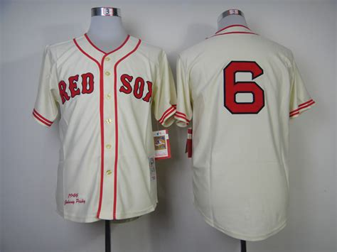Jersey Baseball Limited 1 boston sox jersey 6 johnny pesky jersey embroidery
