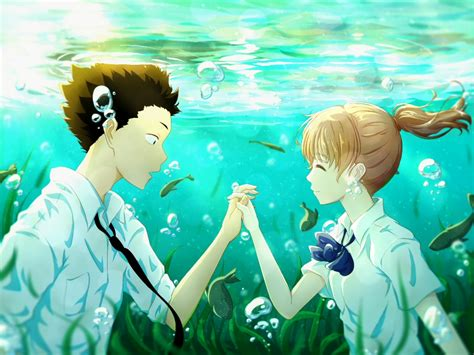 wallpaper hd koe no katachi wallpaper koe no katachi shouya x shouko underwater
