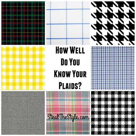 check pattern types how well do you know your plaids steal the style