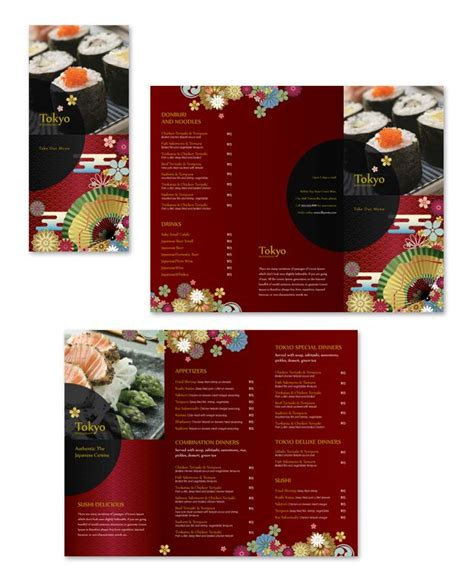 take out menu templates free 25 best ideas about japanese restaurant menu on