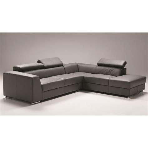 dark gray leather sectional mobital icon leather right facing sectional in dark gray