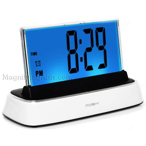 low vision clocks talking clocks voice activated clocks