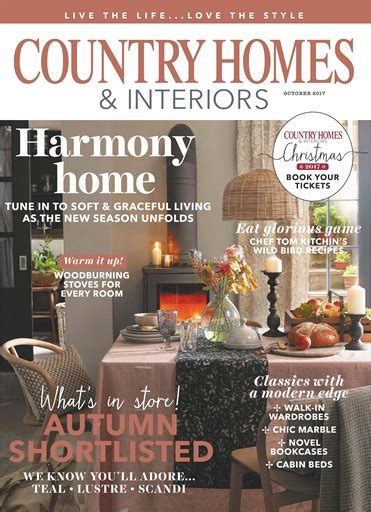 country homes and interiors magazine subscription country homes interiors magazine october 2017