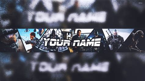 banner template gaming 2015 2016 photoshop speedart