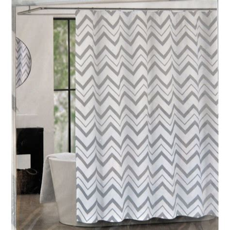 chevron fabric shower curtains