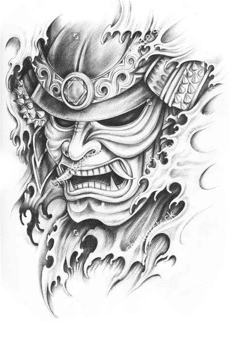 samurai helmet tattoo designs m 225 s pinteres