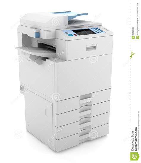 Office Printers by Modern Office Multifunction Printer Isolated Royalty Free