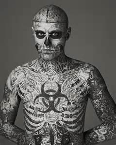 model rick genest zombie boy becomes fashion sensation