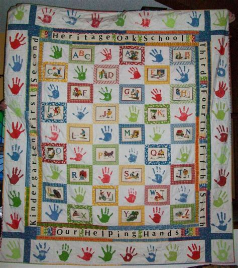 Handprint Quilt by Abc And Handprint Quilt School Auction Projects