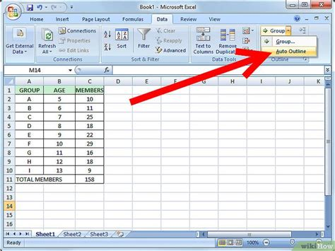 Two Point Outline Exle by Gegevens Groeperen In Excel Wikihow