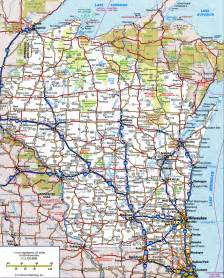 road map of state wisconsin road map