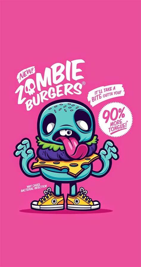 pink zombie wallpaper cute funny pop art cartoon wallpaper for iphones zombie