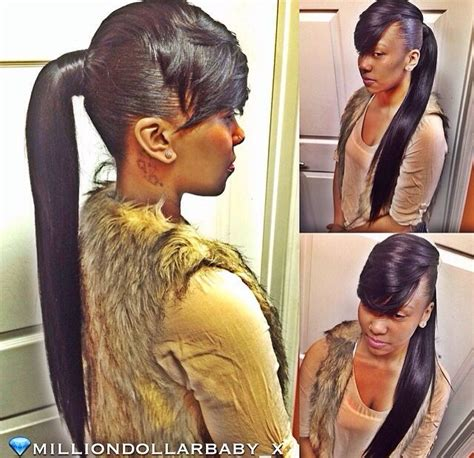 weave ponytail on pinterest hairstyles for black women sidebangs ponytail weave weave updos pinterest